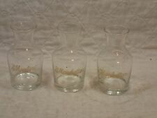 MANHATTAN & MARTINI CARAFE Gold Leaf Clear Glass Cocktail Party Set James Bond