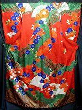 """Holiday Celebration"" Vintage Japanese Women's Silk Wedding Kimono Kakeshita"