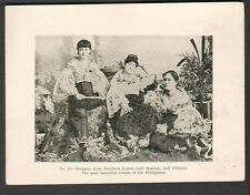 c 1900 photogravure Philippine Is Metzetas northern Luzon most beautiful women