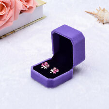Velvet Engagement Wedding Earring Ring Pendant Jewelry Display Chic Box Gift A