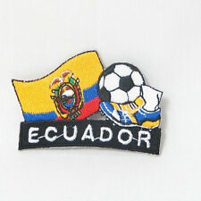 ECUADOR SOCCER FOOTBALL KICK COUNTRY FLAG EMBROIDERED IRON-ON PATCH CREST BADGE