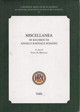 (Scienze dell'antichità) MISCELLANEA IN RICORDO DI ANGELO RAFFAELE SODANO