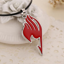 Hot Sale Anime FAIRY TAIL Natsu Dragneel Guild Cosplay Red Pendant Necklace