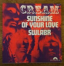 "THE CREAM - SUNSHINE OF YOUR LOVE 7"" 45 FRENCH POLYDOR 421171 FRANCE VINYL RARE"