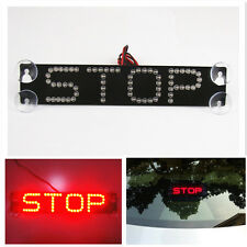 Red STOP Logo LED Rear Windshield Sucker Warning Brake Light For RAV4 Highlander