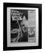 RAMONES+LEAVE+SHEENA+PUNK+POSTER+AD+FRAMED+RARE ORIGINAL 1977+FAST GLOBAL SHIP