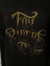Fox Riders Crewneck Graphic Lightweight Black Shirt - Women's Medium - GG144