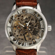 NEW ULTRA THIN STEAMPUNK METAL HOLLOW DESIGN Mechanical Men Watch Vintage Reloj