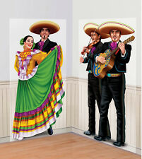 Mexican Party Decoration Scene Setter Wall Poster Photo Prop Spanish Dancers