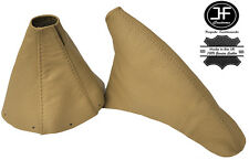 CREAM LEATHER FITS TOYOTA SUPRA MKIV MK4 1993-2002 GEAR HANDBRAKE BOOT SET