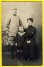 cpa Carte Photo Famille MILITAIRE SOLDAT du 406e Régiment Enfant Marinière