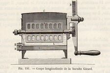 INDUSTRIE COUPE BARATTE BEURRE GIRARD PETITE IMAGE 1875 INDUSTRY BUTTER PRINT