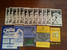 X17-port vale football 1957/58 programme collection/job lot 1950s