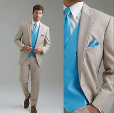 Custom Made Groom Tuxedos Notch Lapel Best Man Suit Groomsman Men Wedding Suits