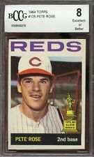 1964 topps #125 PETE ROSE cincinnati reds all star rookie BGS BCCG 8