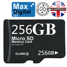 256GB CLASS 10 MICRO SD MEMORY CARD + SD ADAPTER FOR PHONES CAMERAS TABLETS etc
