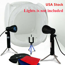 "US Photo Softbox Photography Light Tent Cube Soft Box 16""x16""x16"" 40cm White EM"