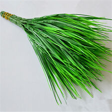 Artificial 7 fork Green Grass Flowers Plants Plastic Household Decoration Home