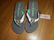 Juicy Couture Platform Thong  Sandals Gray / Mint Green Size M ( 7-8)