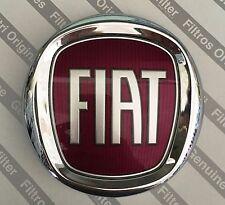 """FREGIO ANTERIORE ROSSO """"FIAT"""" PER FIAT BRAVO  ORIGINALE FIAT DIAM.100"""