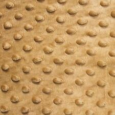 """Tan Minky Dot Cuddle Fabric - Sold By The Yard - 58""""/ 60"""""""