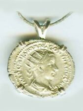 AD240 Silver Denari Roman Religion Teenage Emperor Gordian Sacrificing at Altar