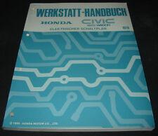 Werkstatthandbuch Elektrik Honda Civic Shuttle / Wagon Schaltpläne ab 1989!