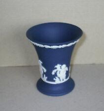 Wedgwood Jasperware Portland Blue Four Seasons Vase