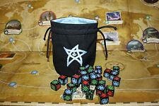 Cthulhu 'Elder Sign' Dice Bag in 'Ice Blue'
