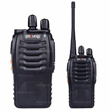 2x Pofung BF-888S UHF 400-470MHz 5W 16CH Ham Two-way Radio Walkie/Talkie N0462