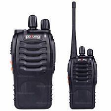 2x Pofung BF-888S UHF 400-470MHz 5W 16CH Ham Two-way Radio Walkie/Talkie N0462