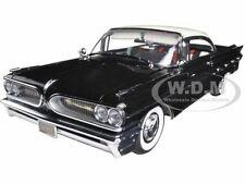 1959 PONTIAC BONNEVILLE IVORY/REGENT BLACK 1/18 PLATINUM EDITION BY SUNSTAR 5174
