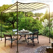 Garden Gazebo Pavilion Marquee Party Canopy Car Tent Wedding Rain Shelter Beige