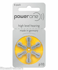 Powerone P10 Hearing Aid Battery Pack of 6 Cell