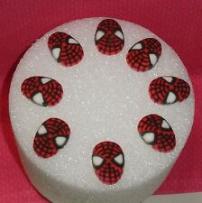 Spiderman Edible Cupcake Toppers, Molded Sugar,DecoPac,Red,8ct.Decorations