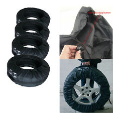 "Set of 4 Tire Storage Protection Cover Carry Tote Bag Car Seasonal Spare 13""-19"""