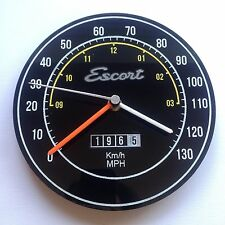 Classic Ford clock Escort Mk1 Mexico RS2000 retro wall clock custom mancave