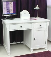 Hampton solid ash white painted furniture small office PC computer desk