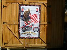 "Born In U.S.A. Wall Decoration 54"" x 34"" Banner w/ Motorcycle, Flag and Eagle"