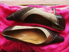FERRAGAMO SHOES LEATHER CLASSY PUMPS MULTU COLOR!S 6.5/36.5 B !MADE IN ITALY !