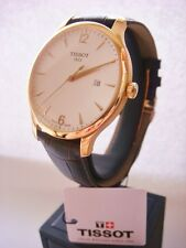 NEW TISSOT 1853 T0636103603700 Tradition Men's Swiss Watch Brown Rose Gold