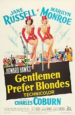 MARILYN MONROE - 1953 - GENTLEMEN PREFER BLONDES - 12X18 INCH MOVIE POSTER