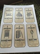 Apothecary / Halloween Labels/ Sticky / Bottle/ Potion Labels.