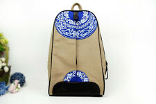 Slim Backpack with novelty oriental painting