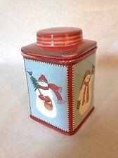 """Sakura Snowman by Debbie Mumm Cookie Jar Canister mini 7 1/2"""""""
