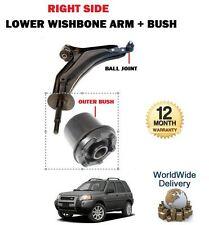 Para Land Rover Freelander 1998-2006 Delantero Derecho Wishbone Brazo + Exterior Bush Set