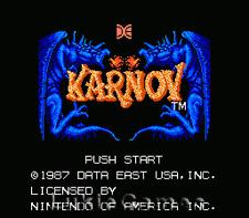 Karnov - Rare Classic NES Nintendo Game