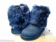 Ugg Ellee Boots Ellee Leather Black US Big Kid 5/Women7/UK5.5/EU36/JP24