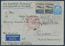 1. NAF 1936 Straßenbahn-Aufgabe Hamburg Zeppelin nach Trinidad (S12760)