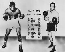 1961 Boxers BENNY PARET vs GENE FULLMER Glossy 8x10 Photo Match-Up Poster Print